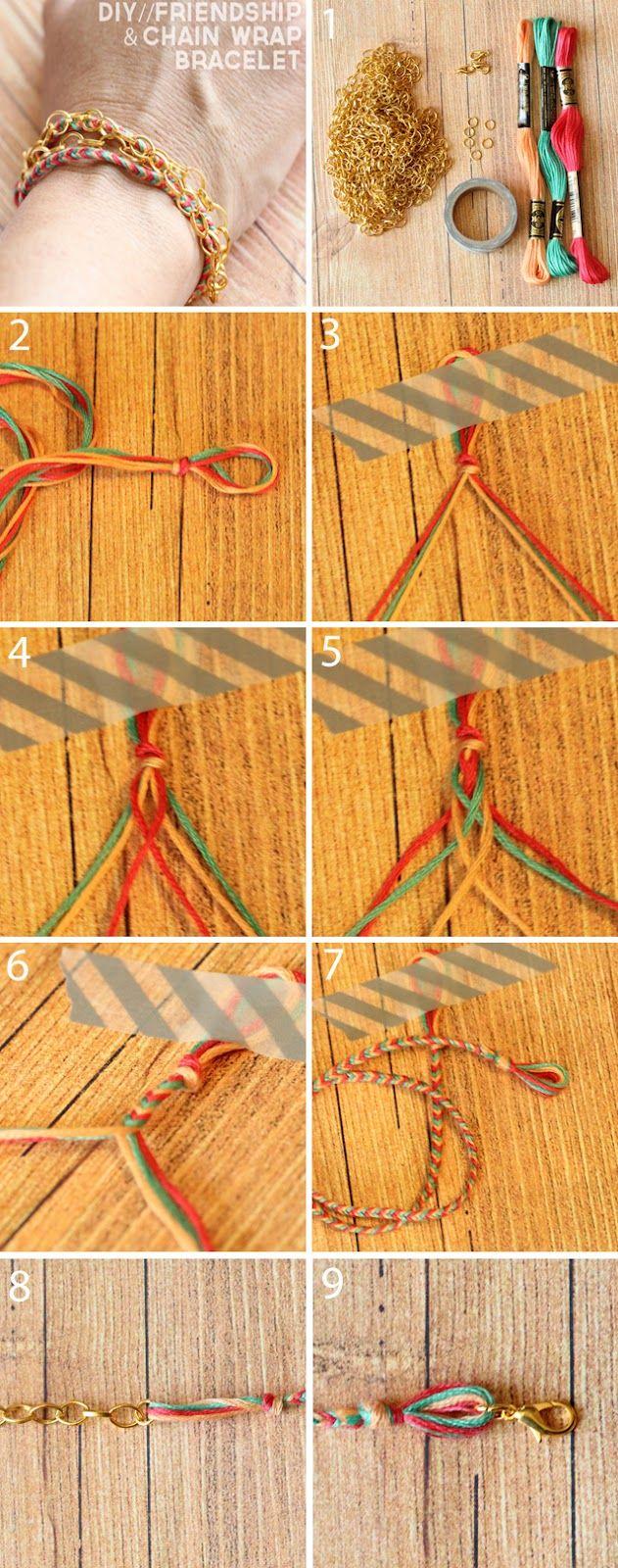 DIY Chain & Frienship Wrap Bracelet