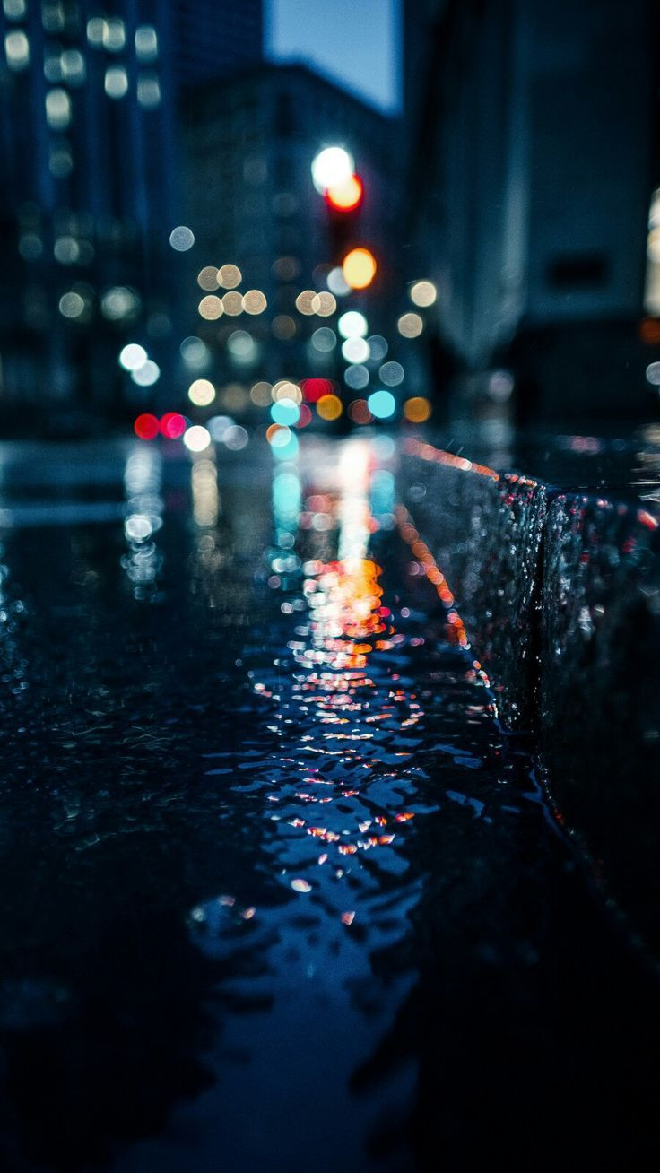 Wallpaper for Android and iPhone | Rain, city, lig… – #Android #City #iPhone #…