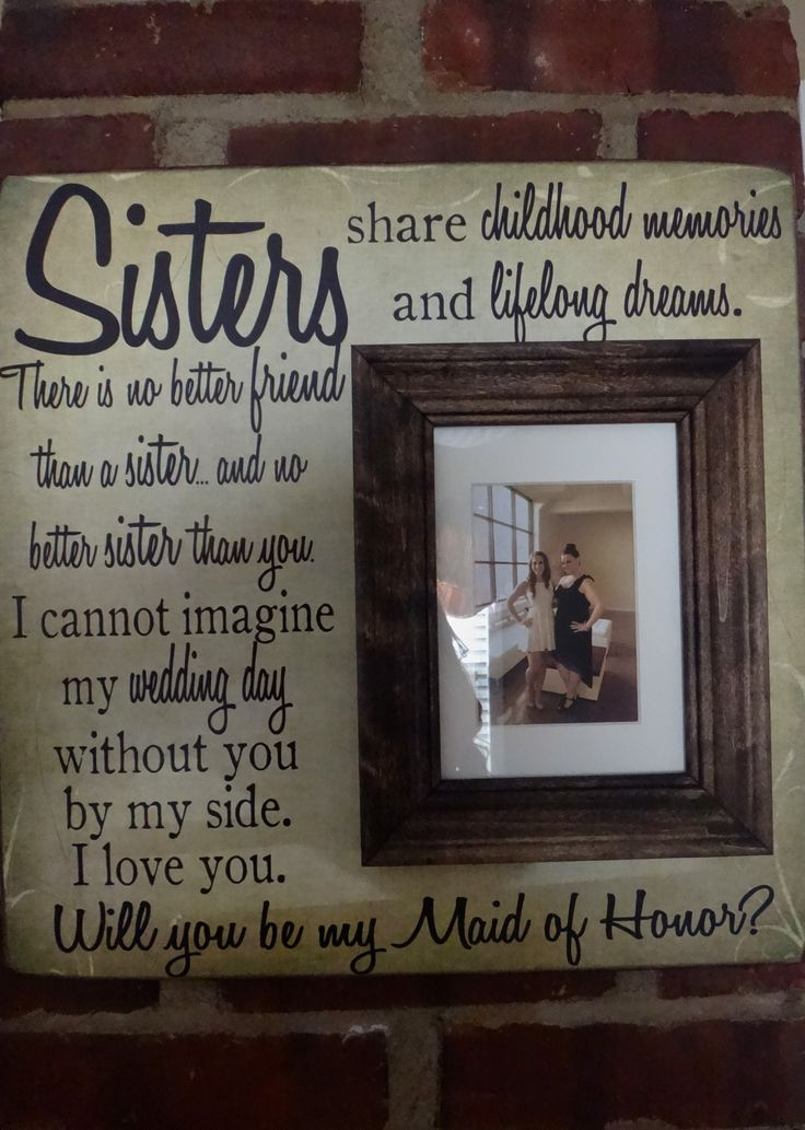 Maid Of Honor Proposal For A Sister The Maids