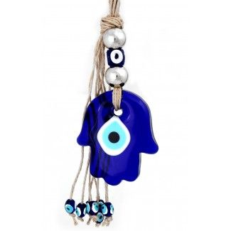 Hamsa Evil Eye Home Amulet. Hang this Lucky Charm inside or