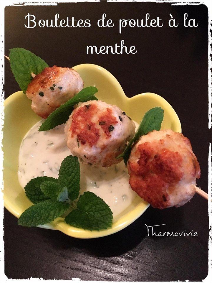 Boulettes de poulet à la menthe sauce au fromage blanc - Thermovivie