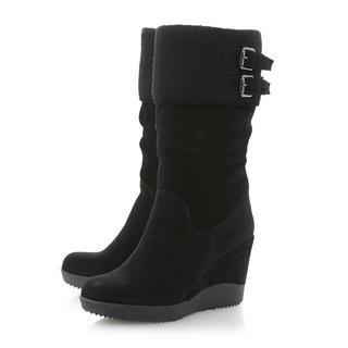 DUNE LADIES ROVERR - Slouchy Wedge Heel Boot - black | Dune Shoes Online