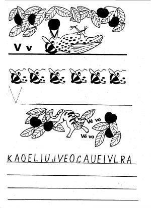 Vyvození písmene V