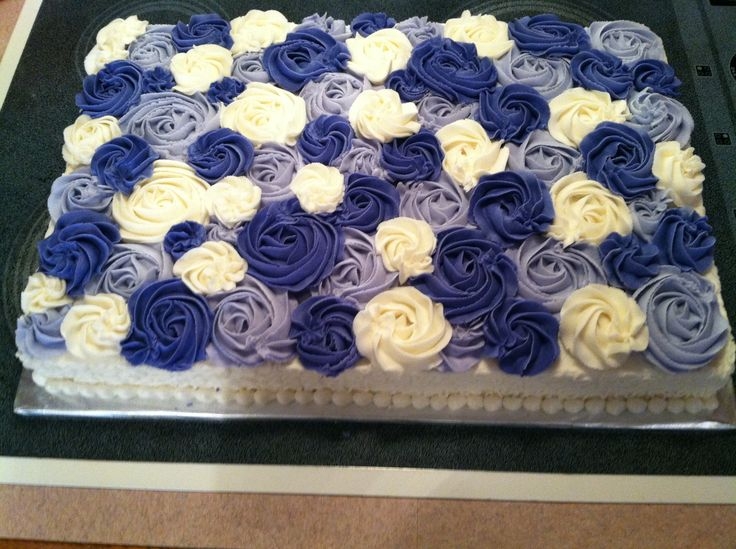 Obsessed with my rosette sheet cake! Baking Recipes ...