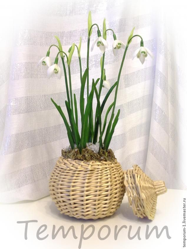 Snowdrops tutorial, clay / cold porcelain (life size)