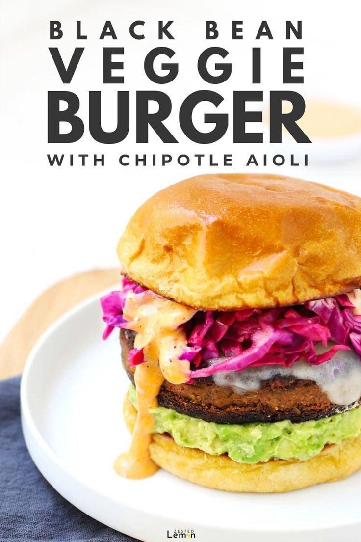Black Bean Veggie Burger With Aioli Recipe Veggie Burger Black Bean Veggie Burger Burger