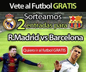 Sortean 2 entradas para el partido de fútbol de liga que enfrentarán en el Santiago Bernabeu al Real Madrid Vs. Barcelona el próximo mes de marzo 2014.  Promoción válida para España hasta el 22 de febrero de 2014.  Más información para participar aquí: http://www.baratuni.es/2013/09/sorteos-gratis-2-entradas-real-madrid-barcelona.html  #sorteos #sorteosgratis #sorteosgratuitos #sorteosonline   #fútbol #derby #baratuni