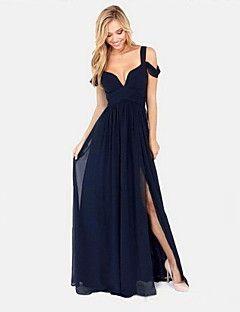Women's Sexy Dress , Chiffon Maxi Sleeveless