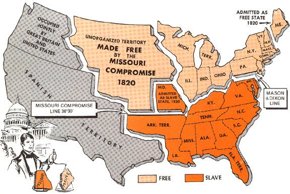 Missouri Compromise An agreement declaring Missouri as a slave