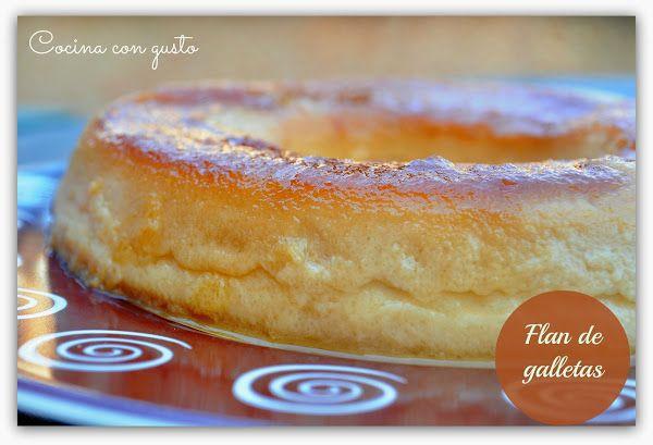 Flan de galletas en olla express | Cocinar en casa es facilisimo.com