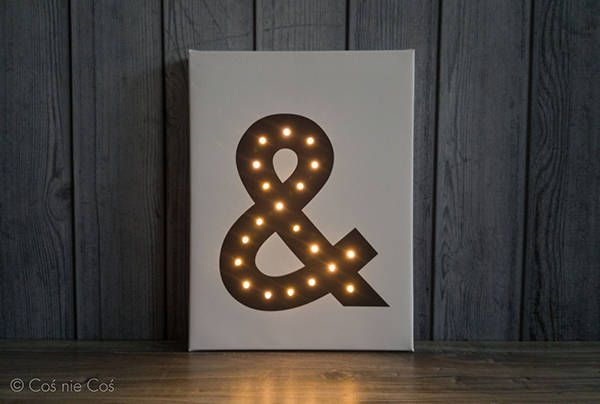 Light up letters, ampersand, letter lights, nordic design, loft decor, led letters, marquee letter, ampersand print, custom, wall decoration by COSnieCOS on Etsy