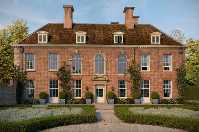 Fawley House, Chilterns, Oxfordshire, England. A Grade II former rectory, masterfully renovated by Ben Pentreath.