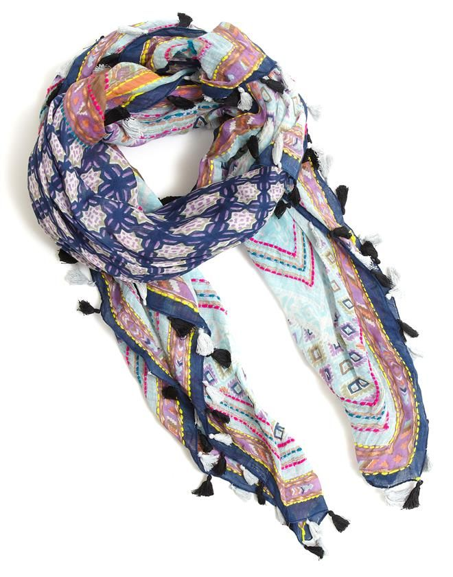 Moroccan Pom Pom Scarf | Jigsaw | Luxury Womenswear & Accessories - British heritage, Australian designed