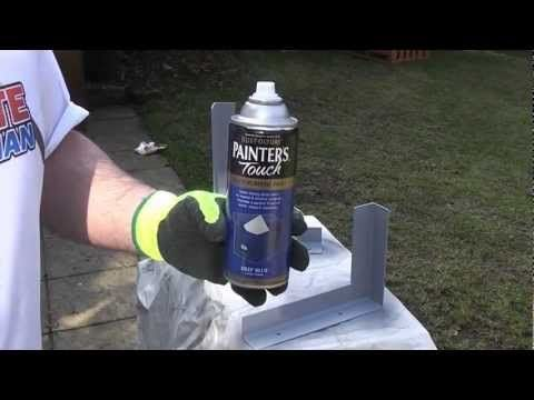 How to paint metal | Rustoleum - YouTube. I paint silver buttons gold. MYB