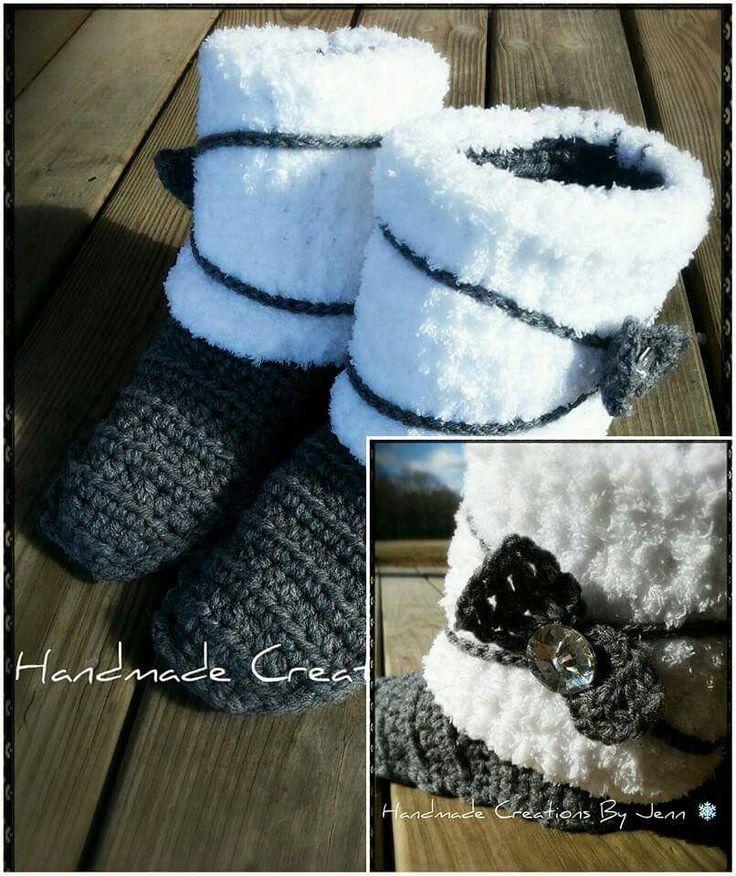 259 besten crochet boots Bilder auf Pinterest | Hausschuhe ...
