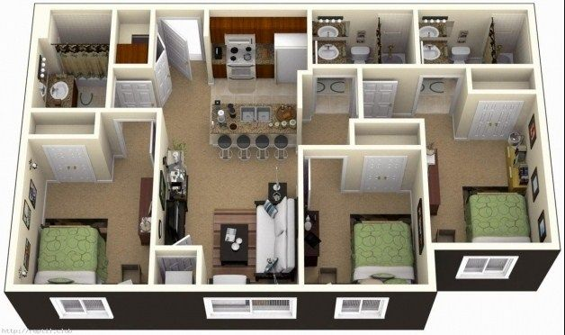 3 Bedroom Design Simple 3 Bedroom House Design  Hiqra  Pinterest