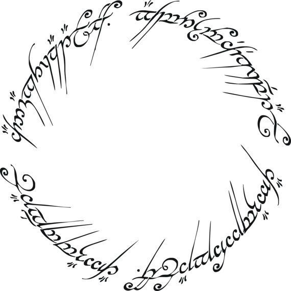 Lord Of The Rings The One Ring Decorative Stencil Multiple Sizes Available On Industry Standard 12 Lord Of The Rings Tattoo Lotr Tattoo Ring Logo