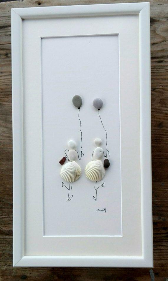 Pebble art girls shells Shells girls birthday by pebbleartSmiljana