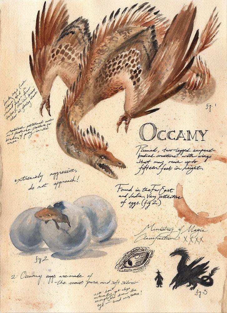 « Fantastic Beasts: Occamy » par Kiana Hamm