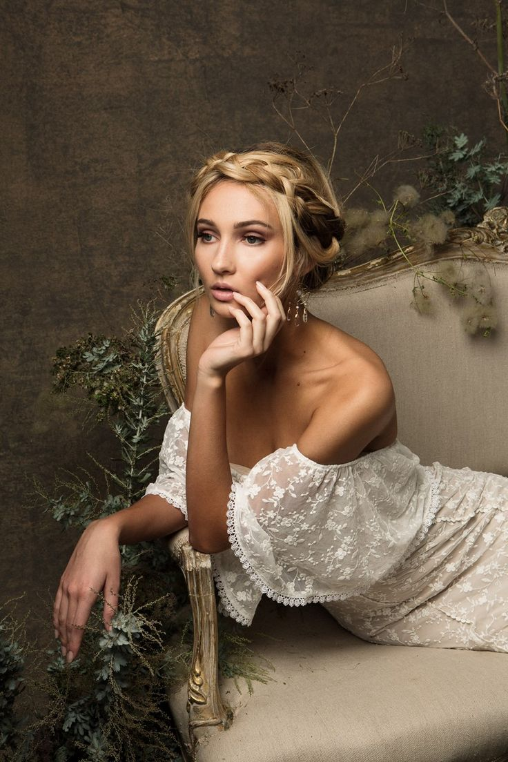 Off Shoulder Sleeve Wedding Dress from Dreamers & Lovers