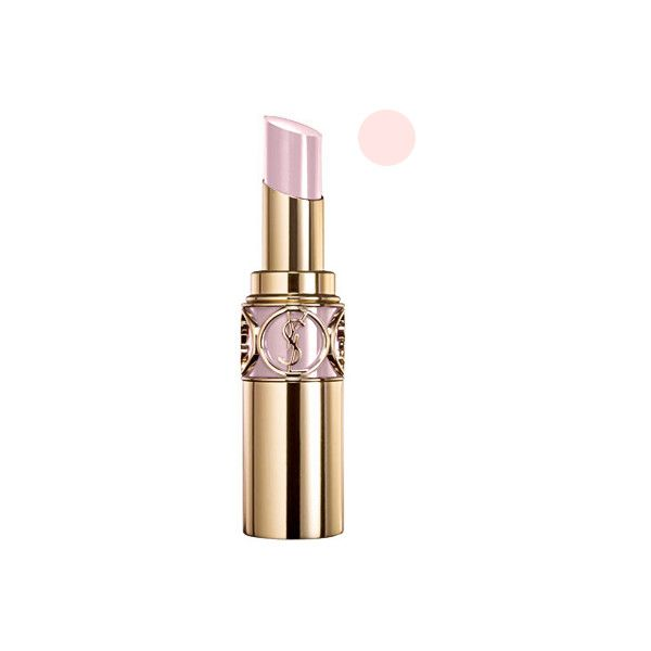 Yves Saint Laurent 'Rouge Volupte' Lipstick SPF 15 - Lingerie Pink No. 7 (16 AUD) found on Polyvore