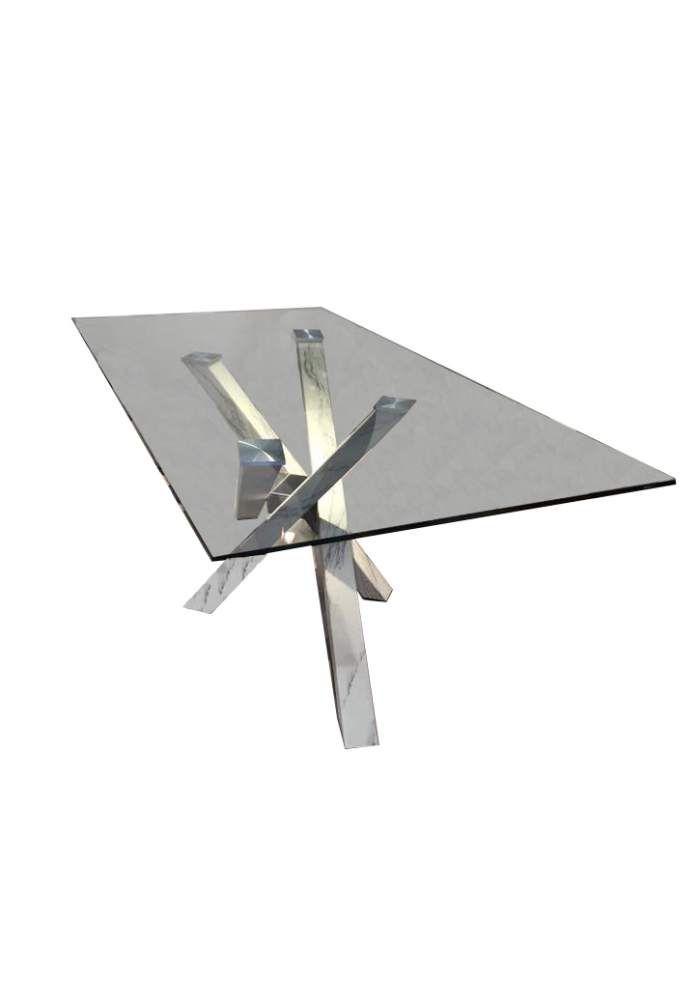Tavolini vetro Riflessi Shangai Big con top in cristallo trasparente temperato spessore 12mm, base in pietra arenaria arabik. Perfetto per arredare la zona giorno con eleganza