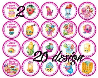 ... Pinterest   The World S Catalog Of Ideas Shopkins Edible Image Cupcake  Toppers ...