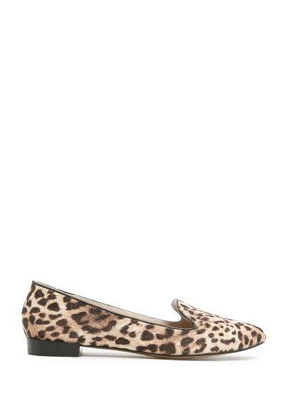 smoking slipper flats MANGO - TOUCH - Lurex leopard slippers
