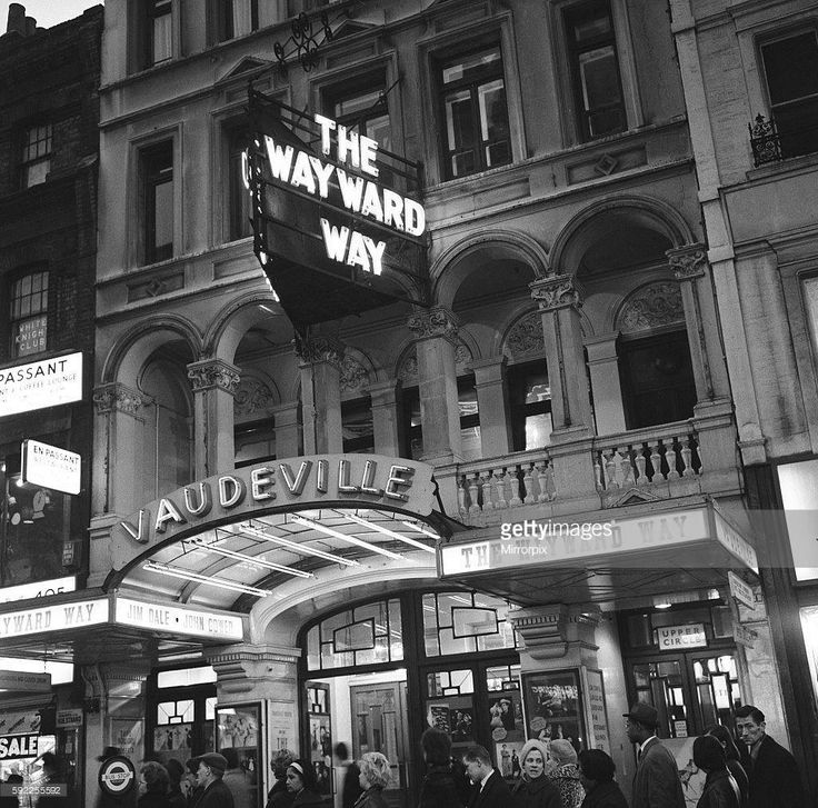 The Vaudeville Theatre in the West End, Central London England in 1965