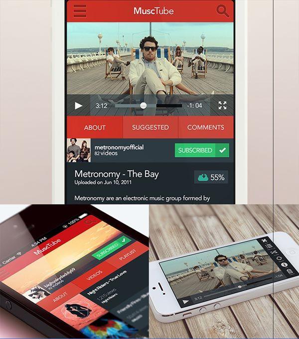 Stunning Music Apps Designs