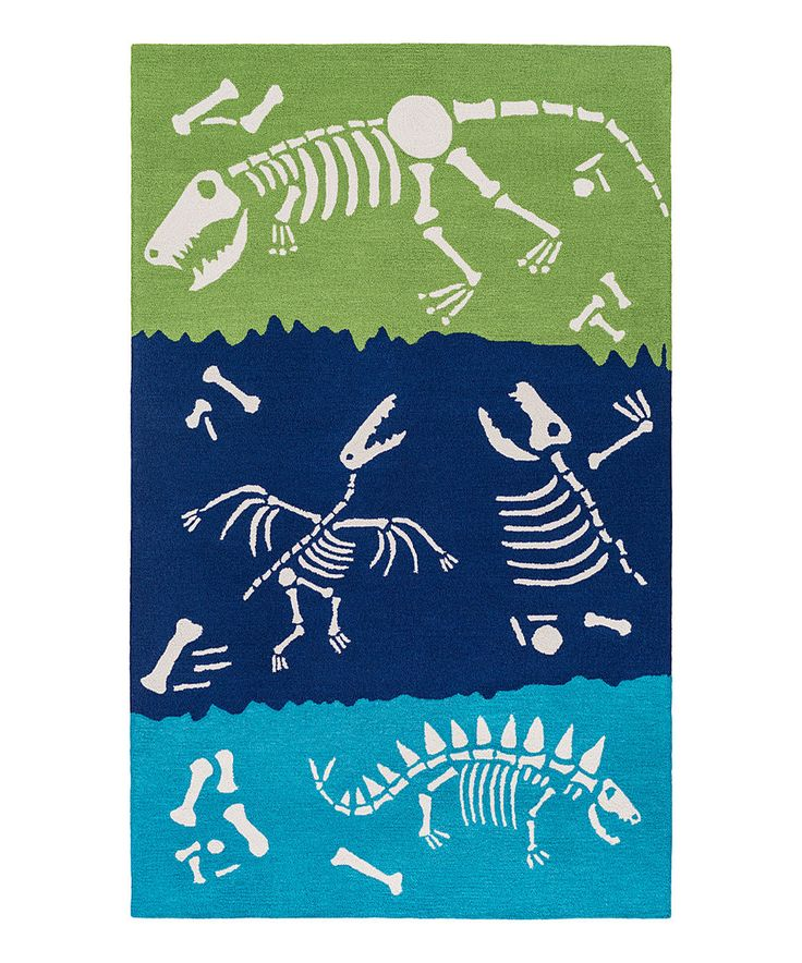Take a look at this Blue Dinosaur Bones Rug today!