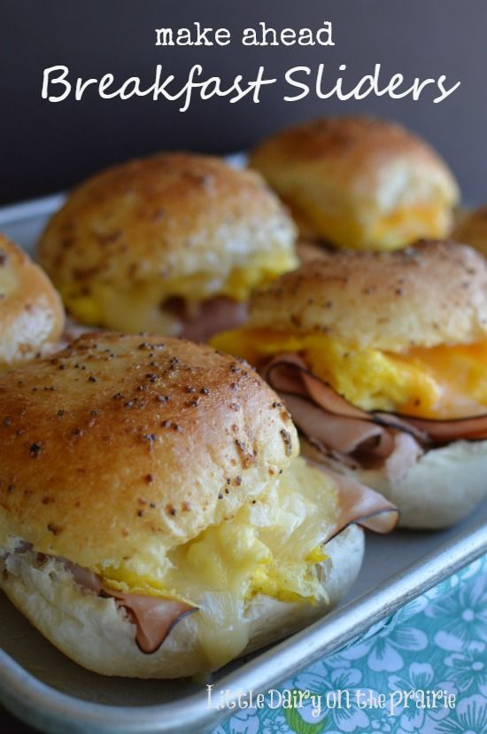 Turn Ham and Cheese Sliders into a make ahead breakfast!  Little Dairy on the Prairie
