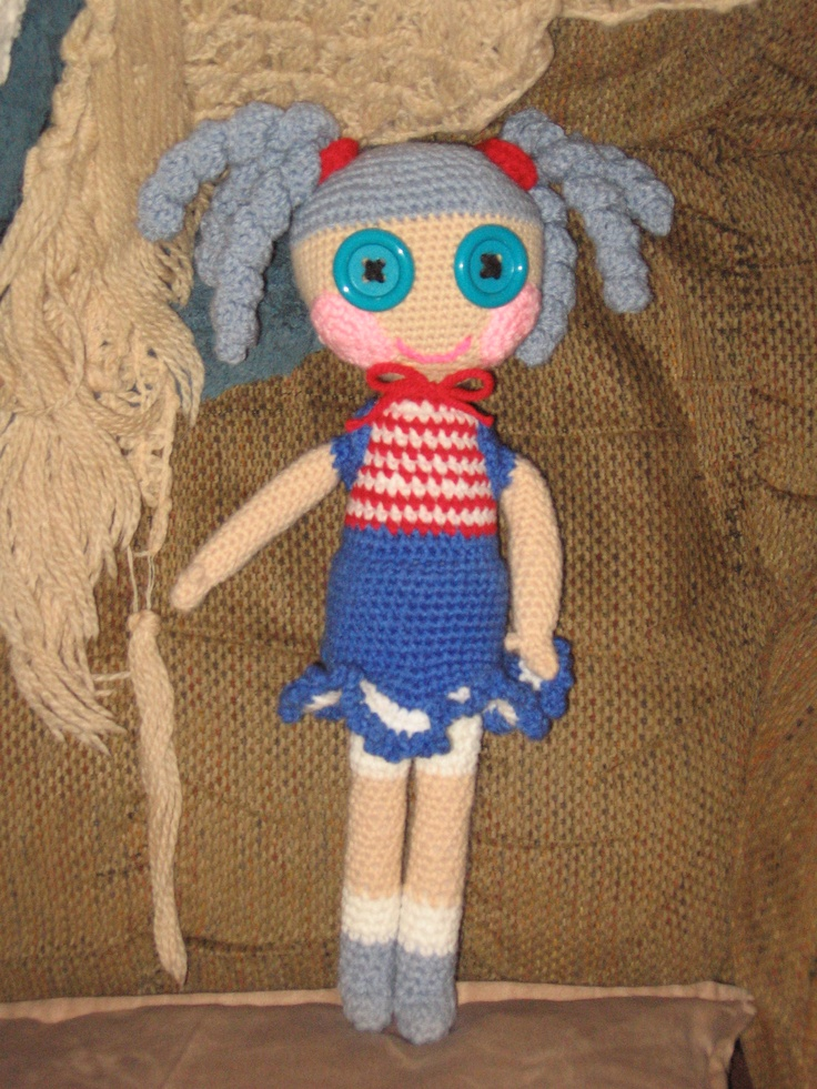 "A Lala type doll that I made for my niece's ""daughter"", from Santa of course...."
