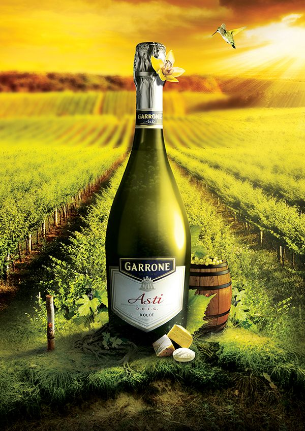 "Garrone brand belongs to the biggest Italian producents of alcohol drinks.Series of 3 advertisements of flagship products. Published several times in a monthly industry magazine – ""Rynki Alkoholowe""."