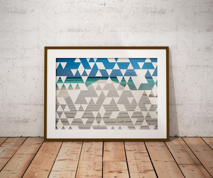 Geometric Wall Decor - Abstract Art - Nature Photography - Beach Poster - Triangle Art - Instant Download - Abstract Print - Large Print by Thestrangerboutique on Etsy