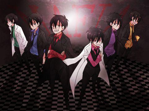 Osomatsu-san version mafia Characters:Osomatsu/Karamatsu/Choromatsu/Ichimatsu/Juushimatsu/Todomatsu