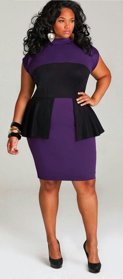 Hot plus size purple dress Womens Plus Size Fashion Unique Style Inspiration Urban Apparel #UNIQUE_WOMENS_FASHION