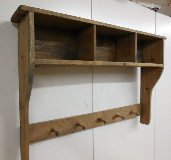 Shaker Peg Rail And Box Shelf With Dividers