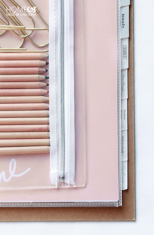 Keep everything you need in your binder, so it's easy to update!