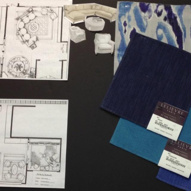 Proposed Den Using Old World Weavers And Lelievre Fabrics Thru Stark Fabric.