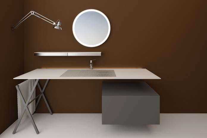 Le style bureau dans la salle de bains
