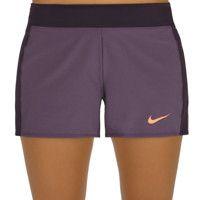 Nike Tenniskleding Baseline Shorts Dames - Paars, Oranje