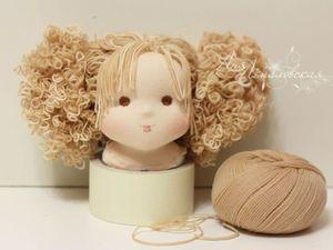 Кудряшки для вальдорфской девочки: мастер-класс - Ярмарка Мастеров - ручная работа, handmade