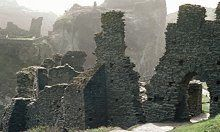 The legendary birthplace of King Arthur, Tintagel Castle, Cornwall.