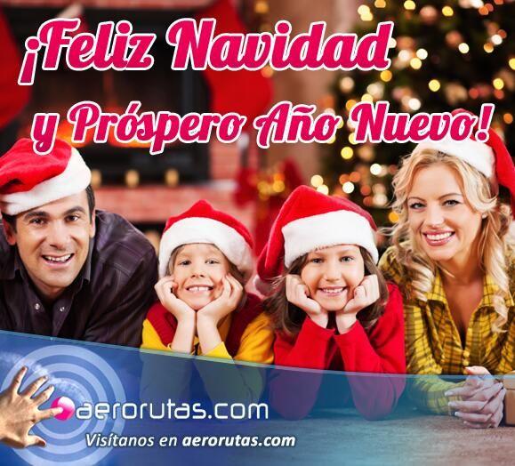 El equipo de http://www.aerorutas.com  les desea a todos una muy Feliz Navidad y un Próspero Año Nuevo. #FelizNavidad #travel #turismo viaje