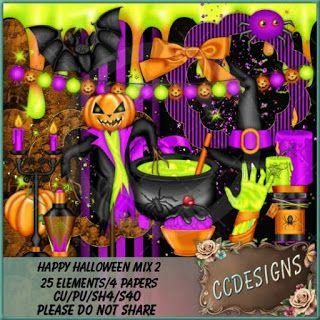 "CCDesigns: New In Store's ""Happy Halloween CU Mix 2"""