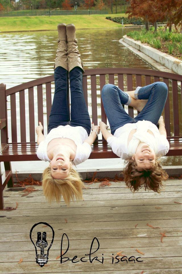 Fun sister photos - Smith House Photography - Formerly Becki Isaac Photography - The Woodlands, Texas