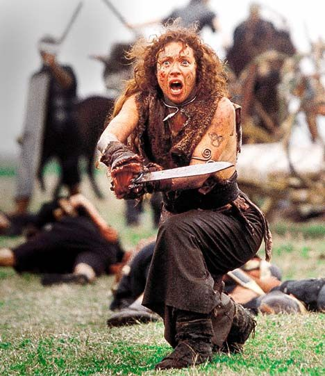 River Song (well, Alex Kingston) as bad-ass Boudica, in the movieWarrior Queen.