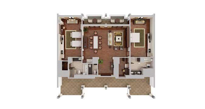 Two Bedroom Royal Suite Ocean View Bali Resort House Plans Bali