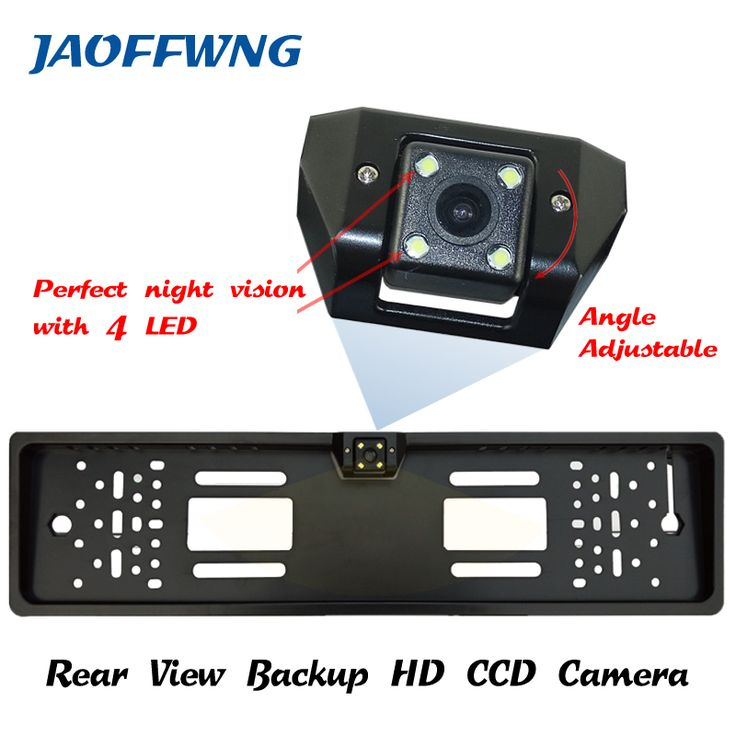 promo for ccd hd car rear view camera backup reverse universal camera european license plate #european #license #plates